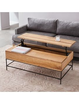 Industrial Storage Pop Up Coffee Table   Large by West Elm