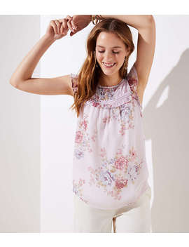 Floral Ruffle Flutter Top by Loft