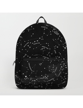 Constellation Map   Black Backpack by