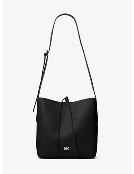 Junie Large Pebbled Leather Messenger by Michael Michael Kors