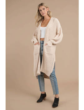 Lost + Wander Feel Good Nude Knit Cardigan by Tobi