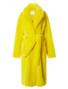 Luxe Faux Fur Oversized Coat by Tibi