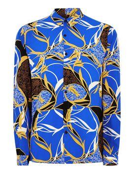 Blue Baroque Long Sleeve Shirt by Topman