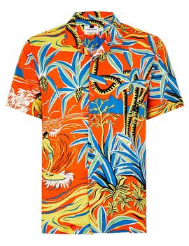 Red Surf Hawaiian Short Sleeve Shirt by Topman