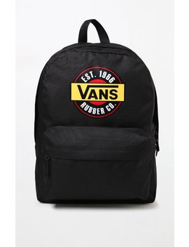 Black Chromo Realm Backpack by Vans
