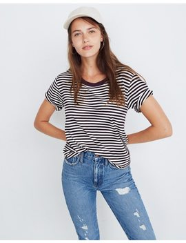 Rivet & Thread Oversized Crop Tee In Stripe by Madewell