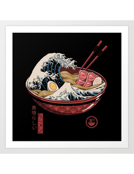 Great Ramen Wave Art Print by