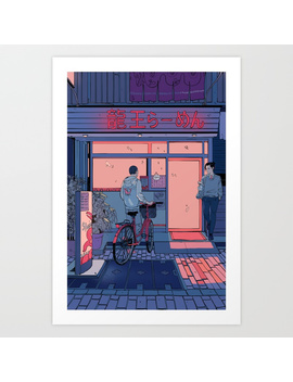 Getting Ramen Art Print by