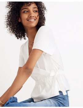 Ruffle Hem Wrap Top by Madewell