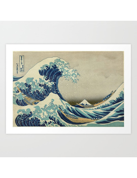 The Classic Japanese Great Wave Off Kanagawa Print By Hokusai Art Print by