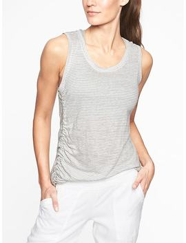 Linen Striped Ruched Tank by Athleta