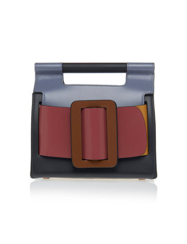 Romeo Color Block Leather Clutch by Boyy