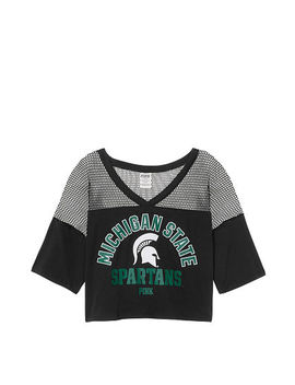 Michigan State University Athletic Mesh Tee by Victoria's Secret