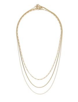 Gold Multi Row Necklace by Topman