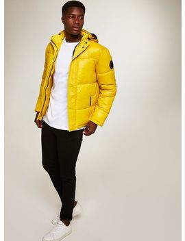 Yellow Puffer Jacket by Topman