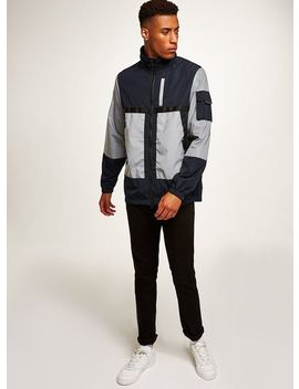 Navy Reflective Technical Jacket by Topman