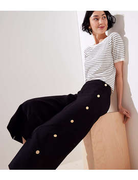 Cropped Wide Leg Sailor Pants by Loft