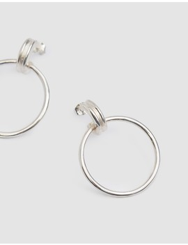 Cairo Grande Hoops In Silver by Wolf Circus