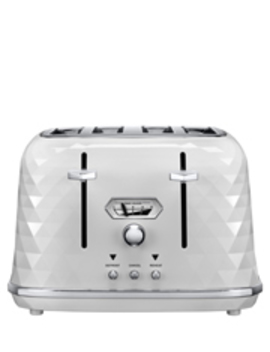Brilliante Exclusive 4 Slice Toaster: White   Ctjx4003 W by Delonghi
