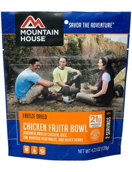 Mountain House   Chicken Fajita Bowl   2 Servings by Mountain House