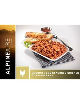 Alpine Aire Foods   Mesquite Bbq Seasoned Chicken With Beans & Rice   2 Servings by Rei