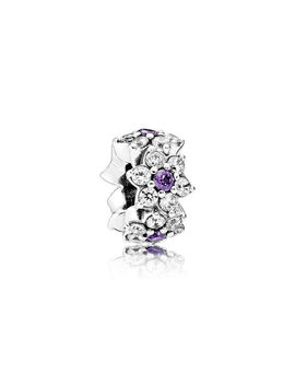 Forget Me Not Spacer, Purple & Clear Cz by Pandora