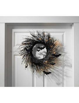 Lit Spooky Wreath by Pottery Barn