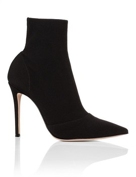 Pointed Stretch Fabric Bootie by Gianvito Rossi