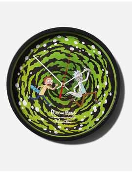 Primitive X Rick And Morty Portal Glow In The Dark Wall Clock by Primitive