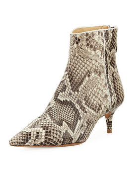 Kittie Python Ankle Bootie by Alexandre Birman