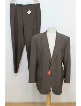 "Bnwt Canali Men's Brown Wool Single Breasted Sports Suit Chest 42"" W44 L34 by Canali"