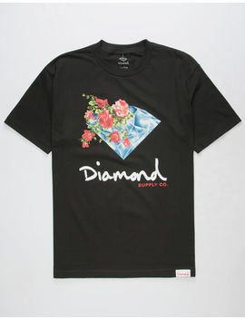 Diamond Supply Co. Painted Floral Mens T Shirt by Diamond Supply Co.