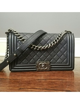 Chanel Boy Bag Medium In Caviar Leather by Chanel