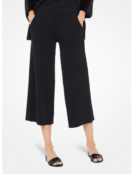 Cashmere Blend Gaucho Pants by Michael Kors Collection
