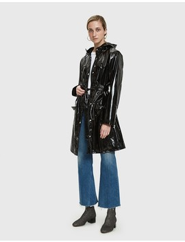 Curve Rain Jacket In Glossy Black by Rains