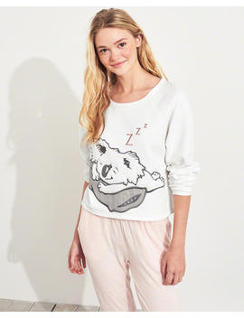 Graphic Crop Crewneck Sweatshirt by Hollister