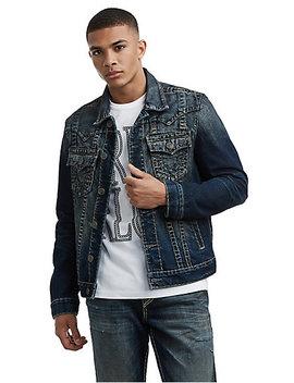 Mens Super T Western Jimmy Denim Jacket by True Religion