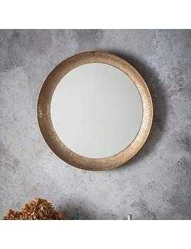 Hoban Matte Gold Wall Mirror by Dunelm