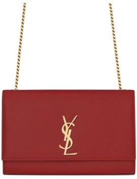 Monogram Kate Ysl Medium Red New Lipstick Leather Shoulder Bag by Saint Laurent