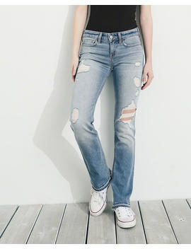 Vintage Stretch Low Rise Boot Jeans by Hollister
