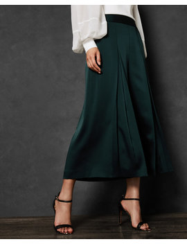 Satin Pleat Front Culottes by Ted Baker