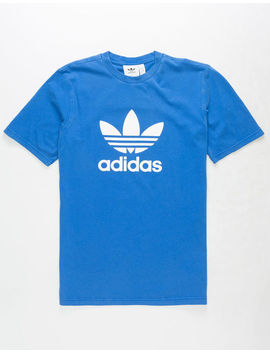 Adidas Trefoil Worn Blue Mens T Shirt by Adidas