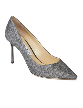 Jimmy Choo Women's 'romy 85' Pointed Toe Glimmering High Heel Pump Shoes Silver by Jimmy Choo