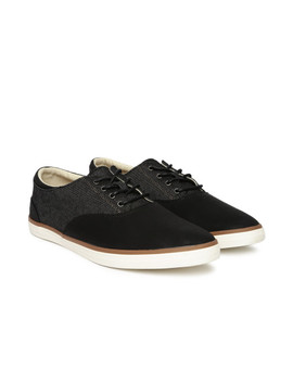 Call It Spring Men Black Leathem Sneakers by Call It Spring