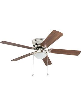 Harbor Breeze Armitage 52 In Brushed Nickel Indoor Flush Mount Ceiling Fan With Light Kit by Lowe's