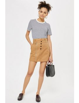 Utility Button Mini Skirt by Topshop