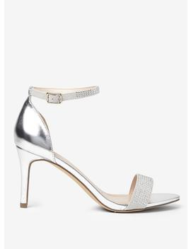 Silver 'bling' Heeled Sandals by Dorothy Perkins