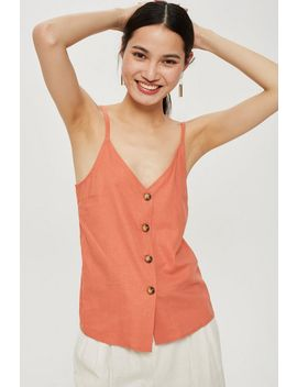 Tall Button Through Camisole Top by Topshop