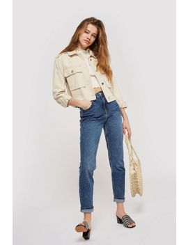 Tall Mid Blue Mom Jeans by Topshop