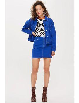 Blue Denim Skirt by Topshop